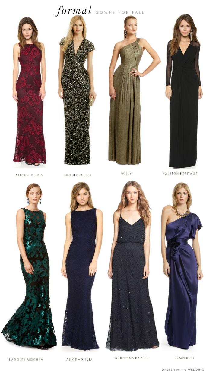 Attire Ideas For What To Wear A Formal Black Tie Wedding In The Fall