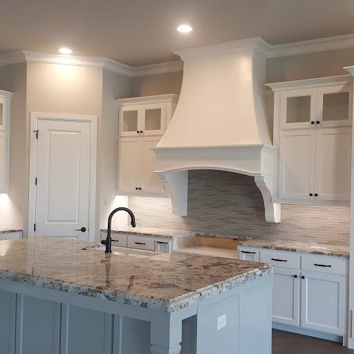 Grey Basement Ideas: White Cabinets SW Agreeable Gray Walls