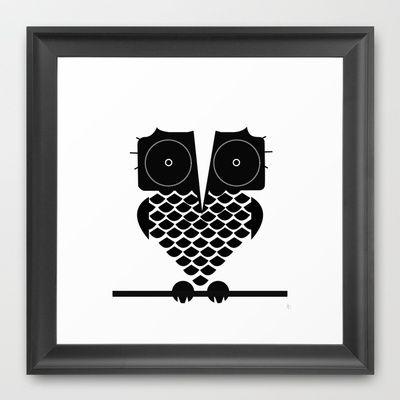 Owl Framed Art Print by Ashleigh Corrin - $35.00