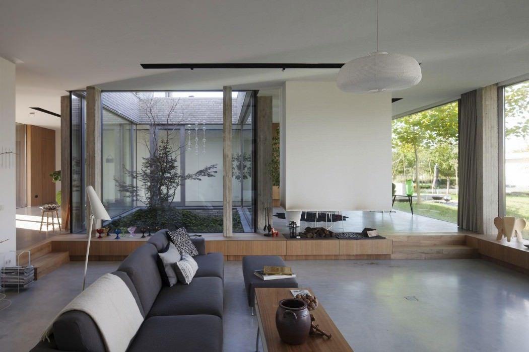 Modernes Wohnen Wohnzimmer | Gestaltung Mit Einem Innengarten Deko Pinterest Inspiration