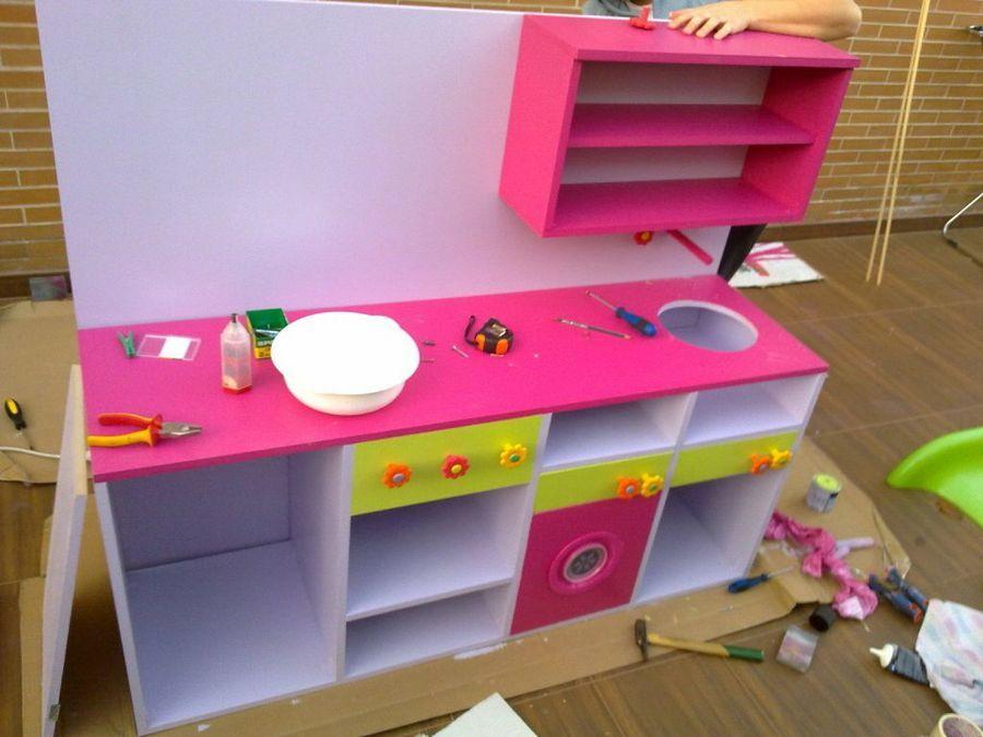 Cocina de juguete paso a paso … | niños | Pinterest | Cocinas de ...