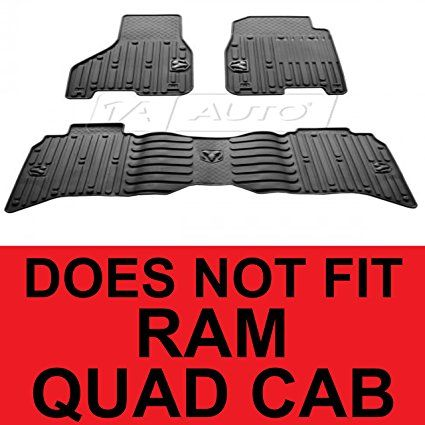 2014 Dodge Ram 1500 2013 2014 Ram 2500 3500 Crew Cab Rubber Floor Mats Black Set Mopar Genuine Oem Factr Rubber Floor Mats Dodge Ram 1500 Black Set