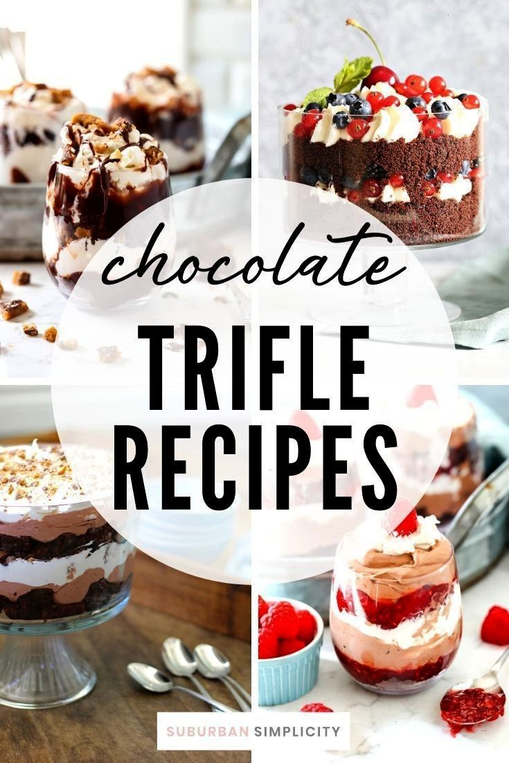 Trifle Recipes Chocolate Trifle Dessert Recipes are so easy and so delicious with their layers of c