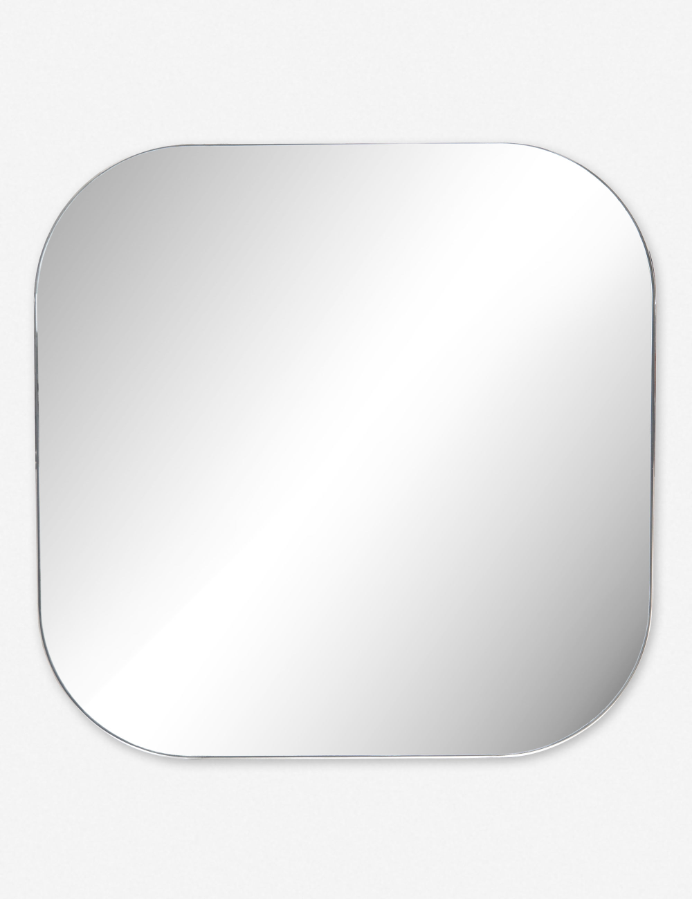 Simple Chic But Not Too Sharp This Square Mirror Features Rounded Corners And A Polished Silver Frame For A Look That Square Mirror Lulu And Georgia Mirror