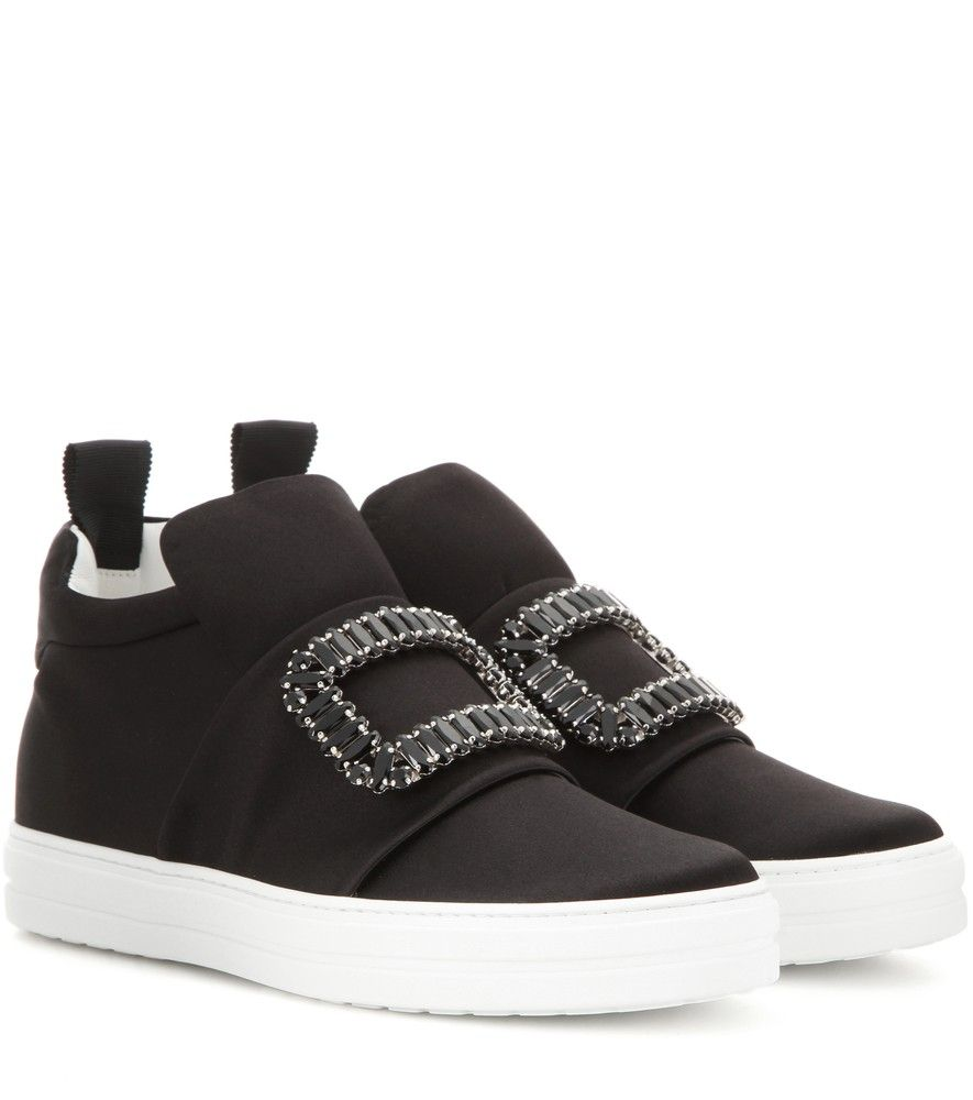 Satin Exagerated Sole Sneakers in Black and White Satin N Buy Cheap Eastbay Amazon Cheap Price FsmN9Ff