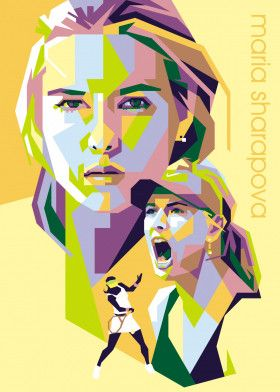 Maria Sharapova | Displate thumbnail