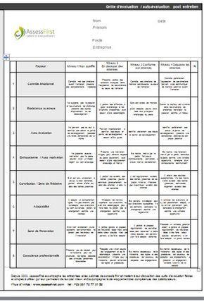 Grille Evaluation Post Entretien Recrutement Modele Gratuit De