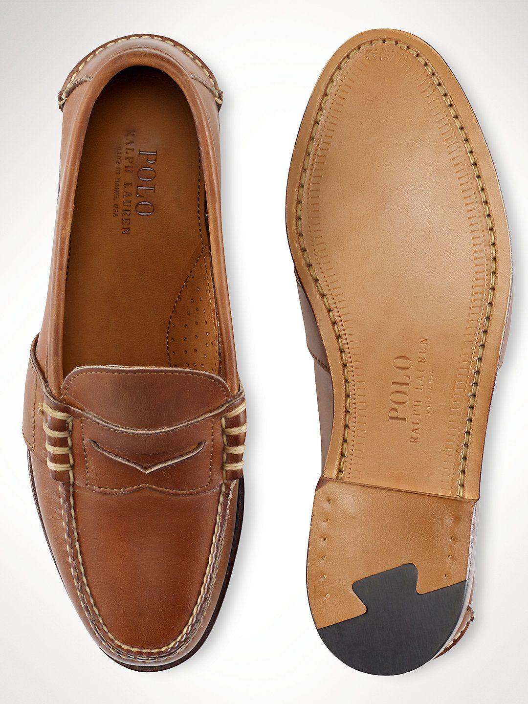 Calfskin Edric Penny Loafer   POLO RALPH LAUREN is part of Dress shoes men -