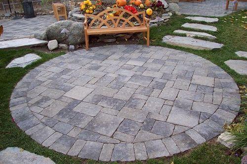 Paving Stones Patio Stones Circular Patio Paving Stone Patio