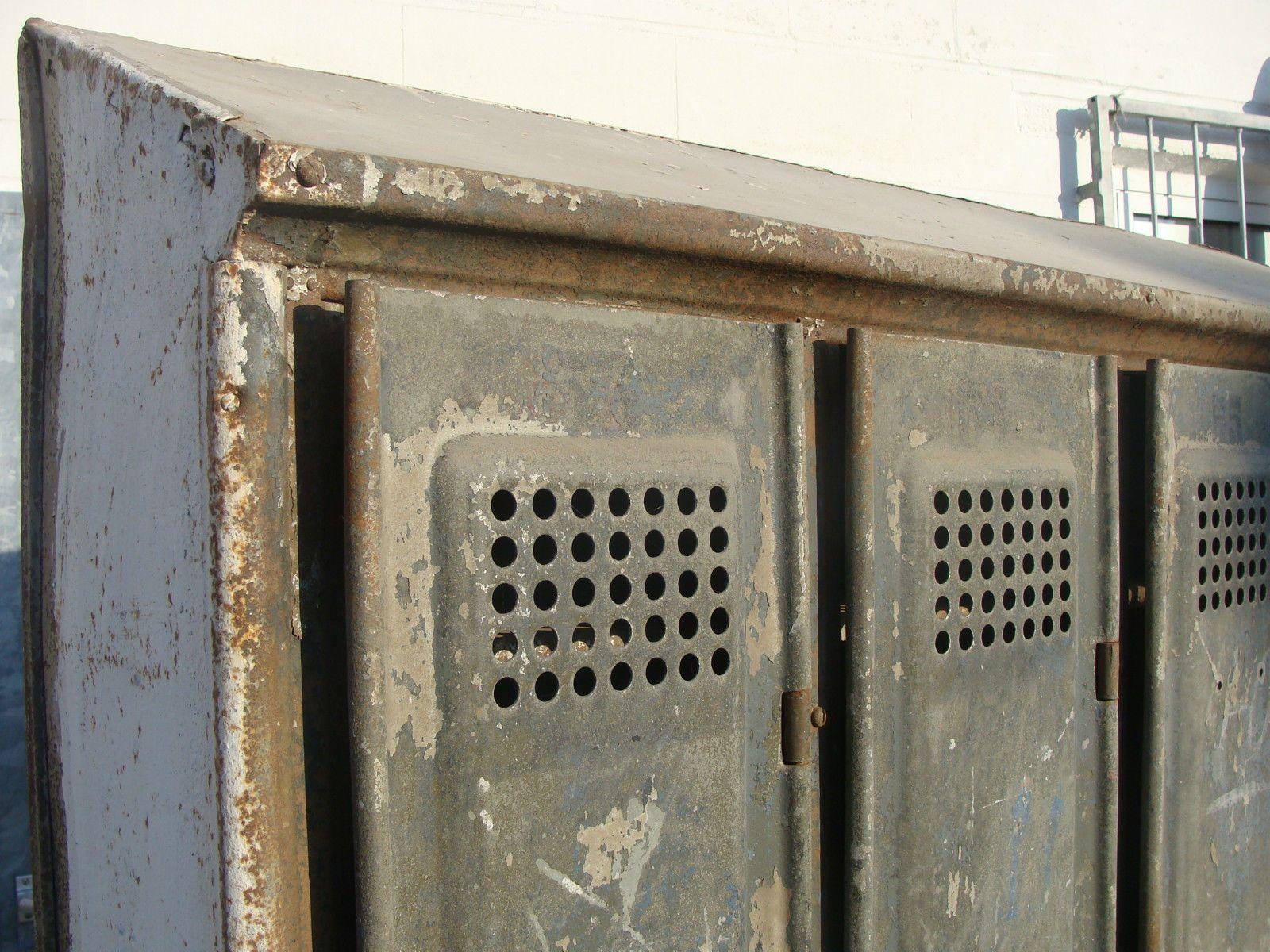 Spind Metallschrank Industrie Design Loft 4er Spind Schrank Rowac ...