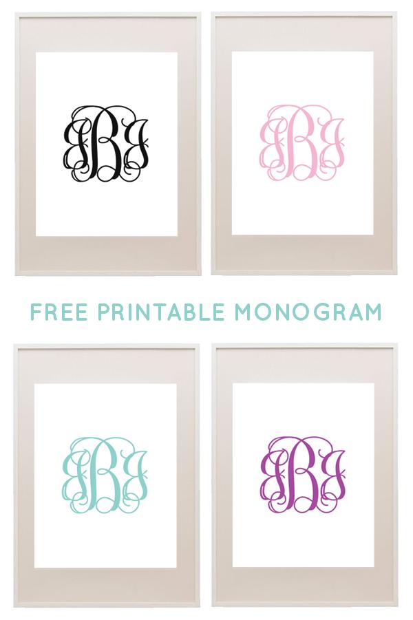 Monograms Free printable monogram Printable monogram and Free
