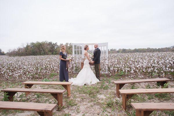 Cotton Field Winter Wedding Ideas