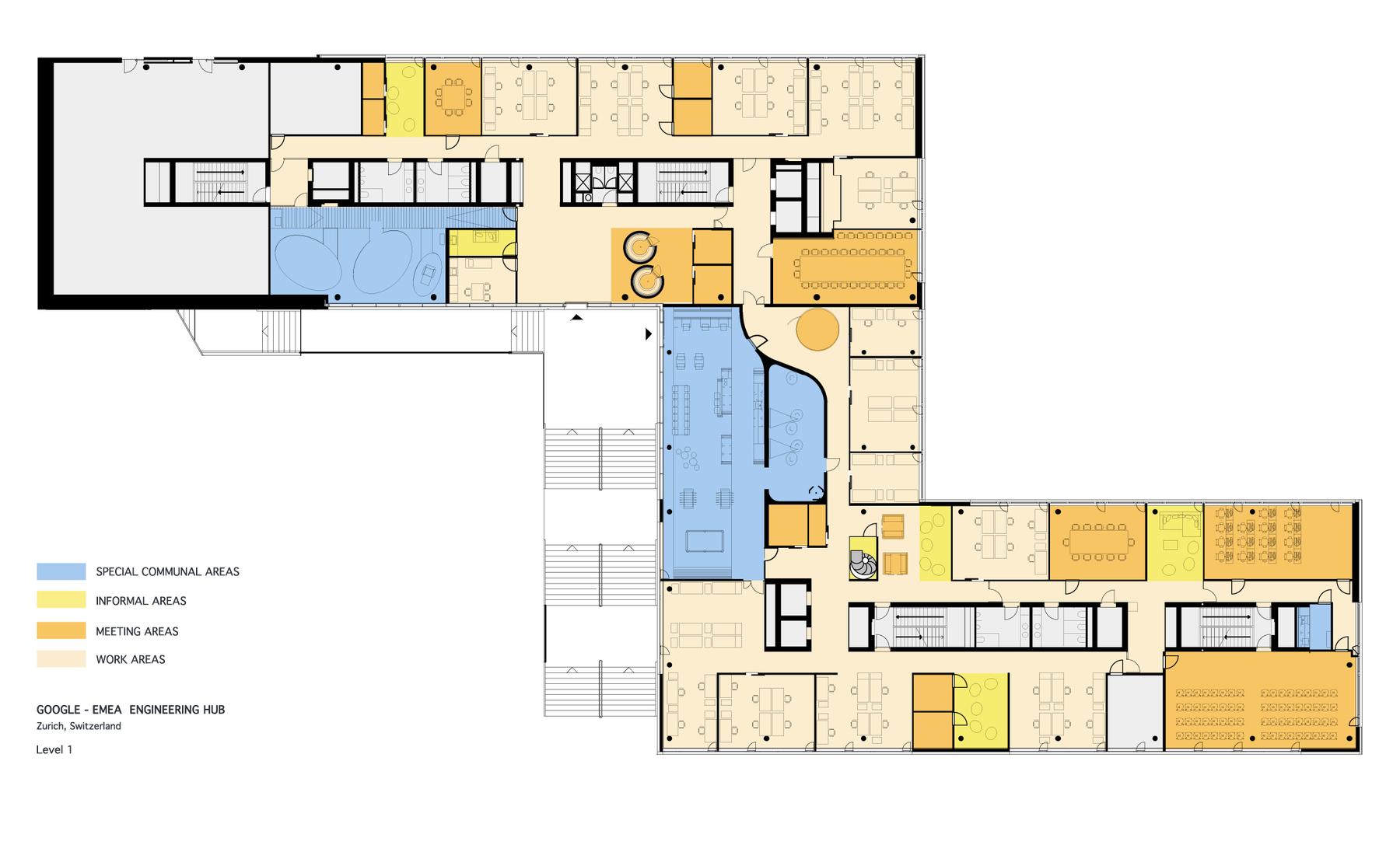 Google Hub Zurich Google Office Evolution Design Camenzind Evolution Floor Plans Office Plan Google Office