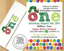 Very hungry caterpillar birthday invitations garden creatures eric carle very hungry caterpillar birthday invitations filmwisefo Choice Image
