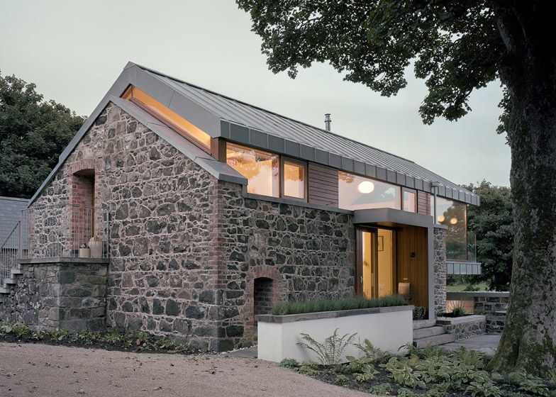 Traditional Stone Barn Updated With A Steel Framed Living Space