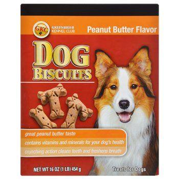 Greenbrier Kennel Club Peanut Butter Dog Biscuits 16 Oz Box