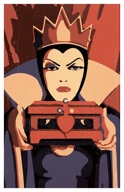 Affiche minimaliste de le méchants Disney lot de trois la  Etsy