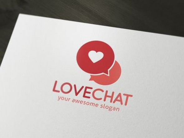 Love Chat Dating Logo Template appicon chat app icon