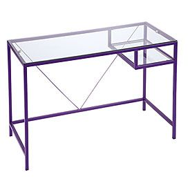 Purple Glass Desk Black Glass Desk Glass Desk Design My Room