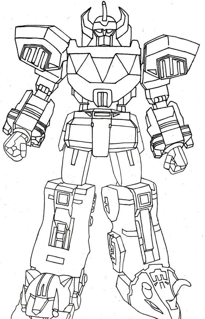 The Megazord By Sparten69r Power Rangers Coloring Pages