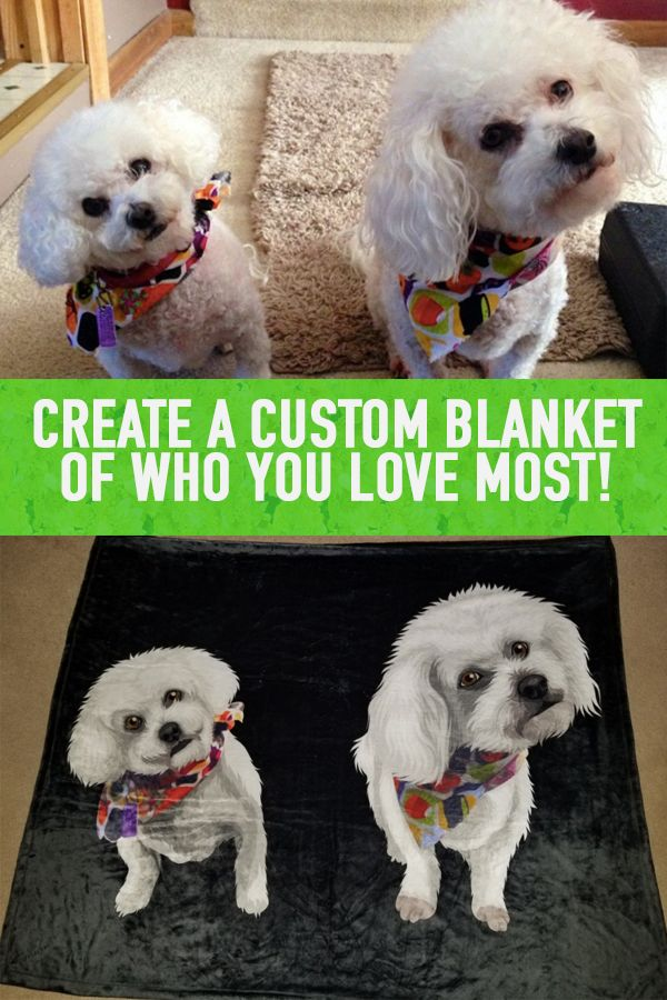 Cuteness Overload Each Custom Blanket Sold Helps A Pet In Need Just Upload A Photo And Our Artist Take Care Of The Rest Create Yo Pet Pop Pets Cute Animals