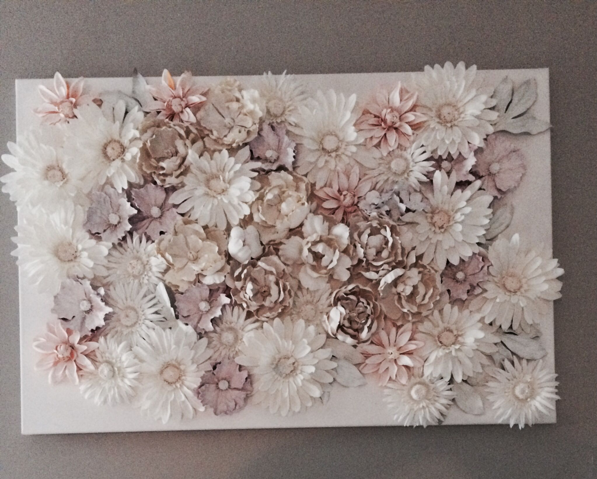 flowers on canvas everything purchased from michaels glue flowers