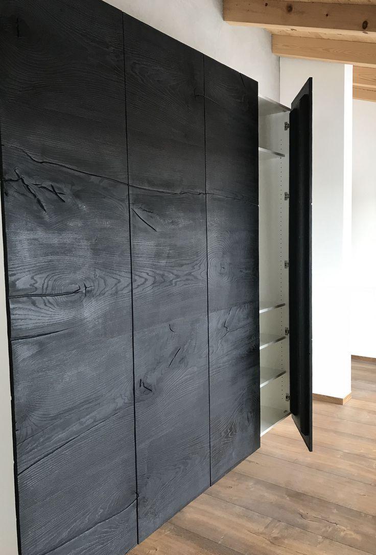Dielenschrank Kleiderschrank Garderobe Trend Black And White