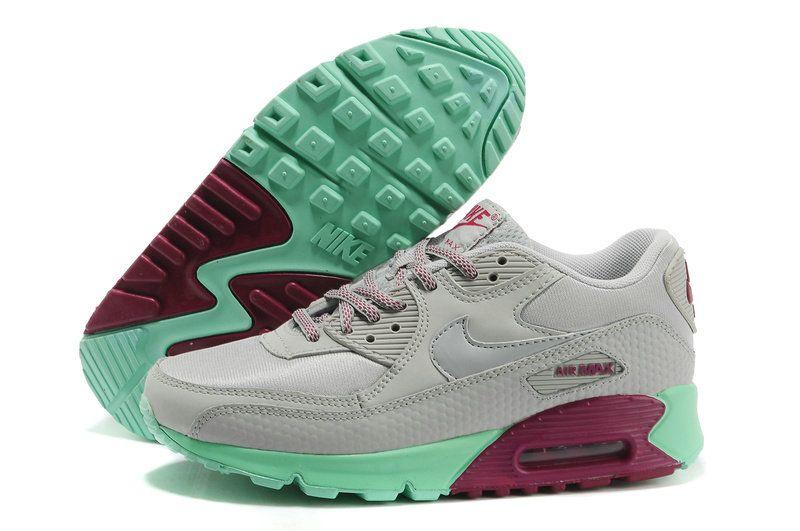 Nike Air Max 90 Dusty Grey Dusty Grey Green Glow Raspberry ...