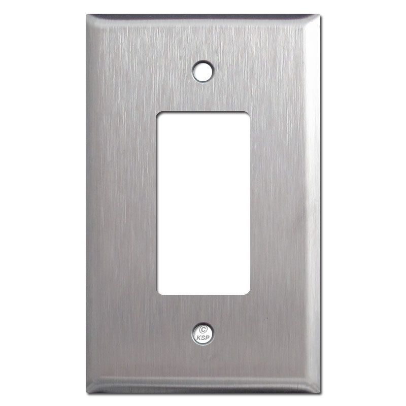 Oversized Gfci Decora Rocker Switch Plate Satin Stainless Steel Rocker Switch Plate Covers Switch Plate Covers Switch Plates