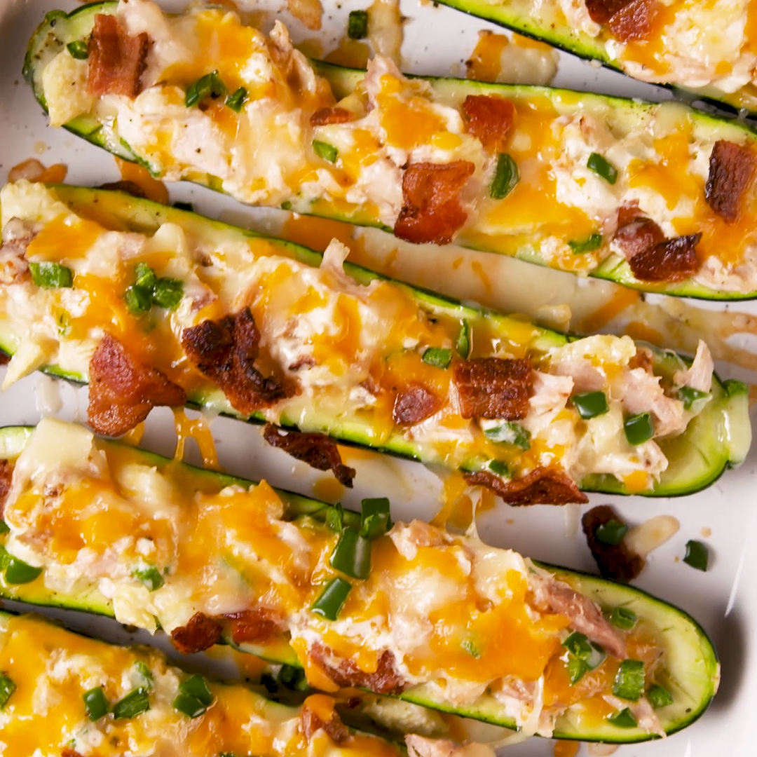 Photo of Jalapeño Popper Zucchini Boats