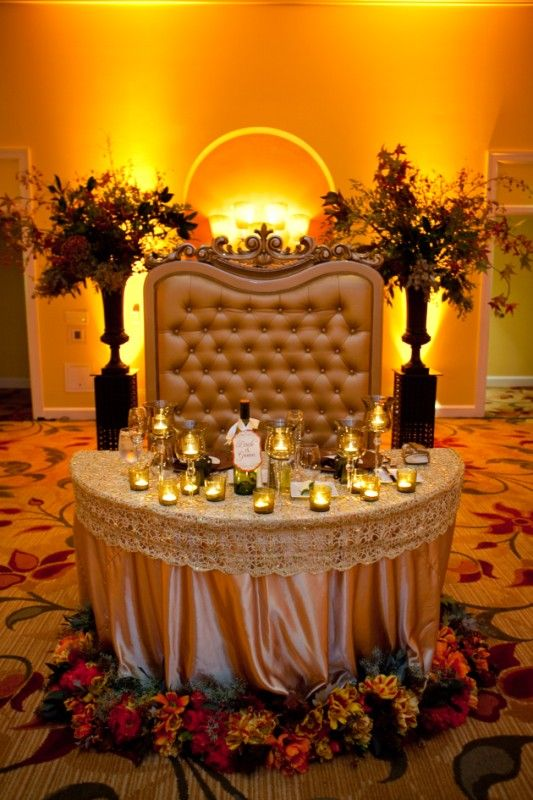 What a beautiful sweetheart table!  #wedding #bridal