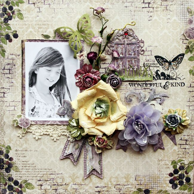 layout by DT Larissa Albernaz featuring February kit