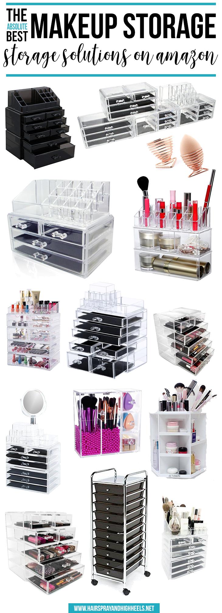 best makeup storage on amazon maquillage rangement et rangements maquillage. Black Bedroom Furniture Sets. Home Design Ideas