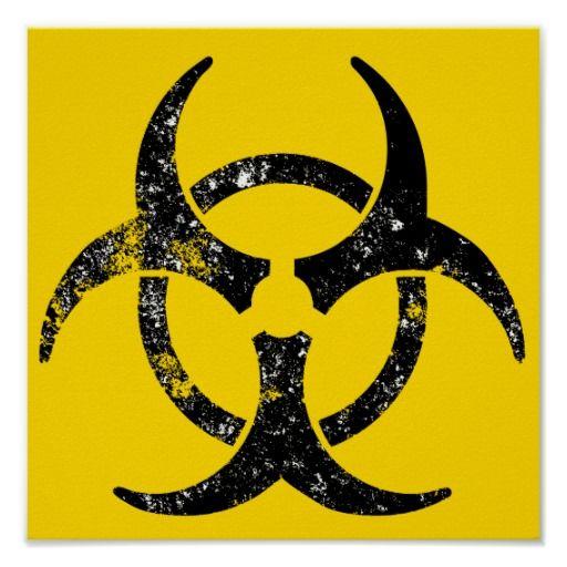 Distressed Biohazard Symbol Poster Pinterest Symbols Tattoo And
