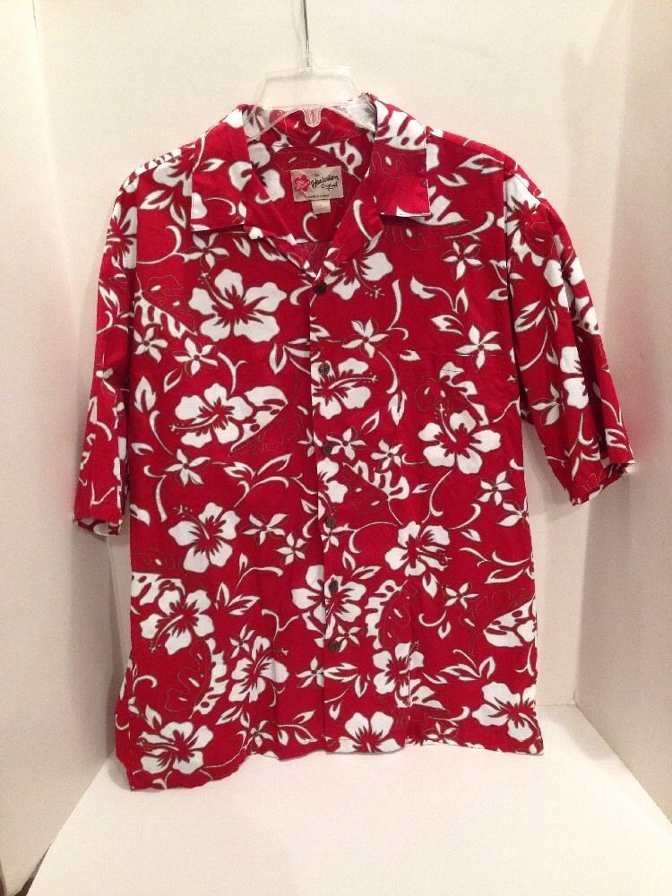 17d9cbec4f Details about Hilo Hattie The Hawaiian Original Men's Red Floral ...