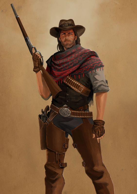 Pin By Dark Mond 34 On Wild West Fantasy Part 1 Western Gunslinger Art Cowboy Art Western Artwork
