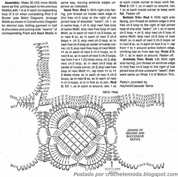 Crochetemoda: Blusa Branca de Crochet | Ropa en crochet | Crochet ...
