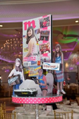Themed Centerpieces - Magazine Themed Centerpiece