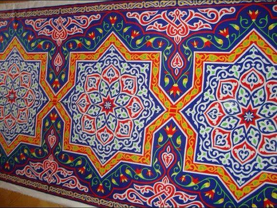 4m Traditional Egyptian Arabian Arabic Tent Fabric by YaSayidati  sc 1 st  Pinterest & 4m Traditional Egyptian Arabian Arabic Tent Fabric by YaSayidati ...