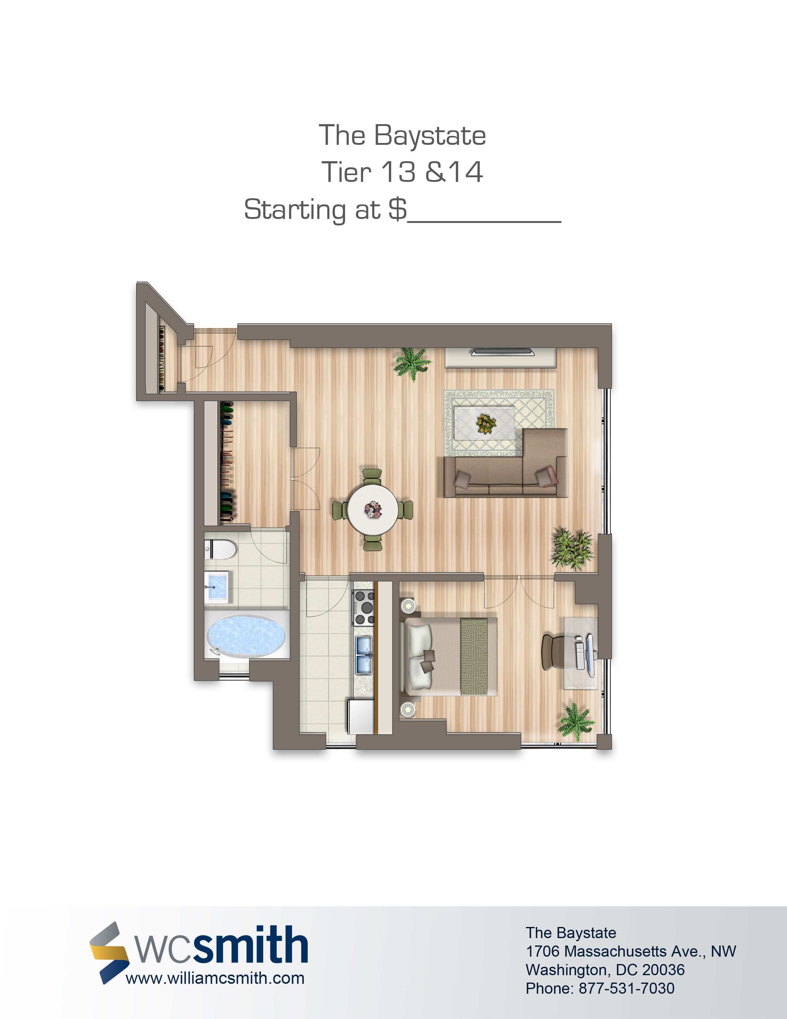 Baystate Apartments Wc Smith Apartment Floor Plans One Bedroom Apartment