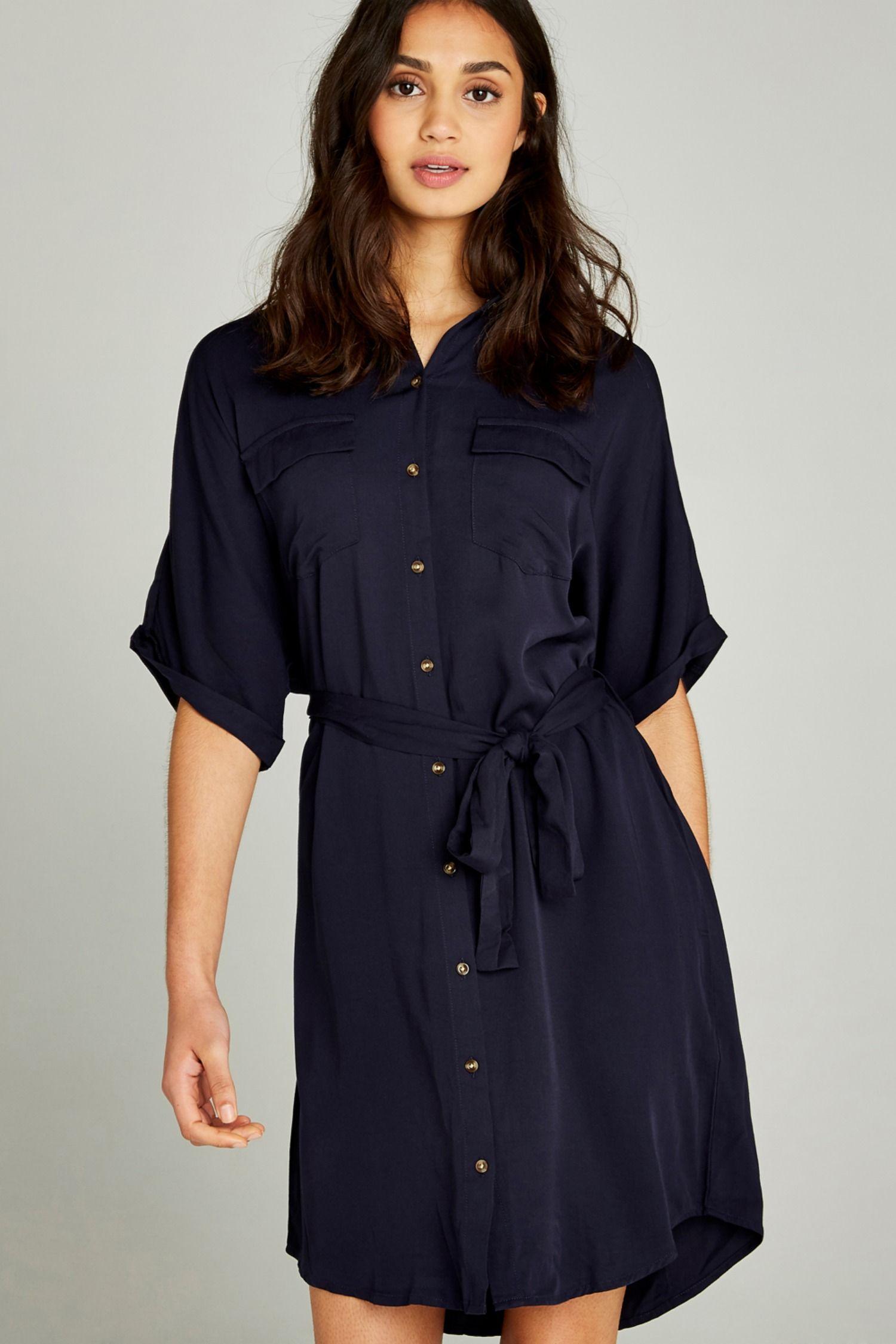 33f0b9c46d0dc NAVY BATWING SHIRT DRESS | SS19 | NEW SEASON | in 2019 | Dresses ...
