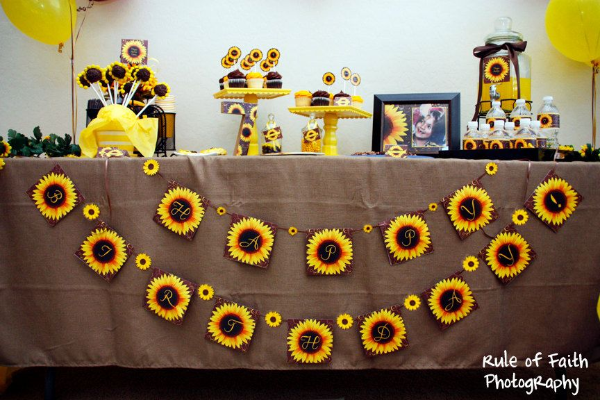 96a1a343d9d25 SUNFLOWER Bridal or Baby Shower or Birthday INVITATION -Printable ...
