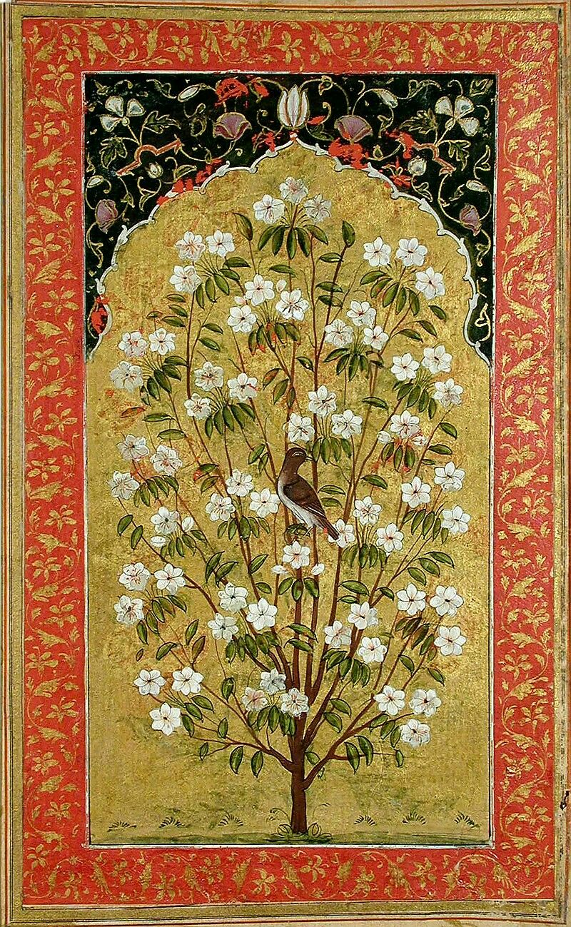 Mughal, tree of life | india pattern | Mughal paintings ...