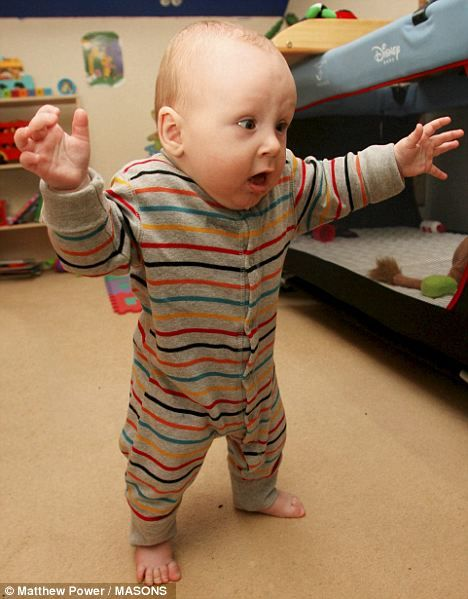 Pictured The Six Month Old Baby Who Learnt To Walk Before He