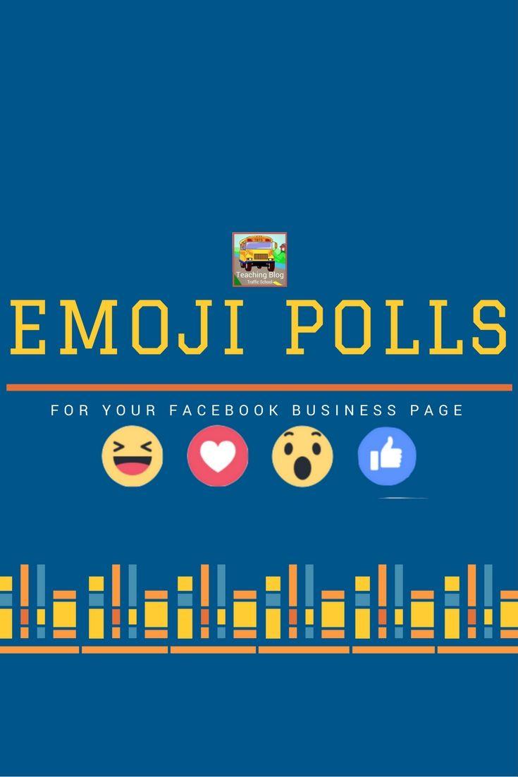Emoji Polls How to use facebook, Facebook business