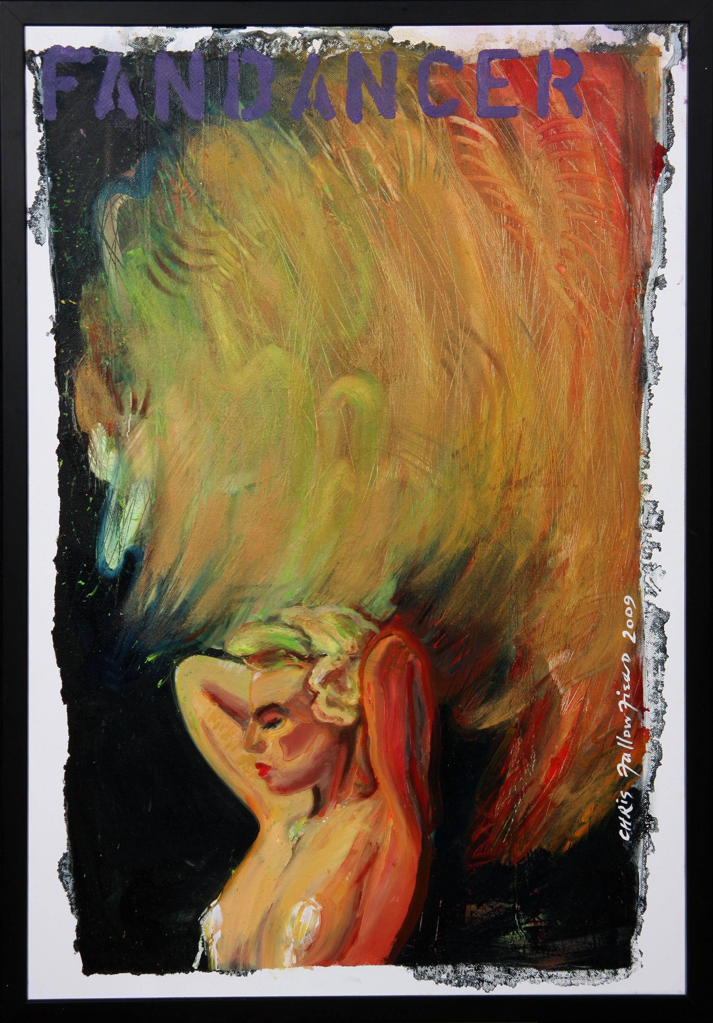 Chris F: FANDANCER 1 oil on canvas