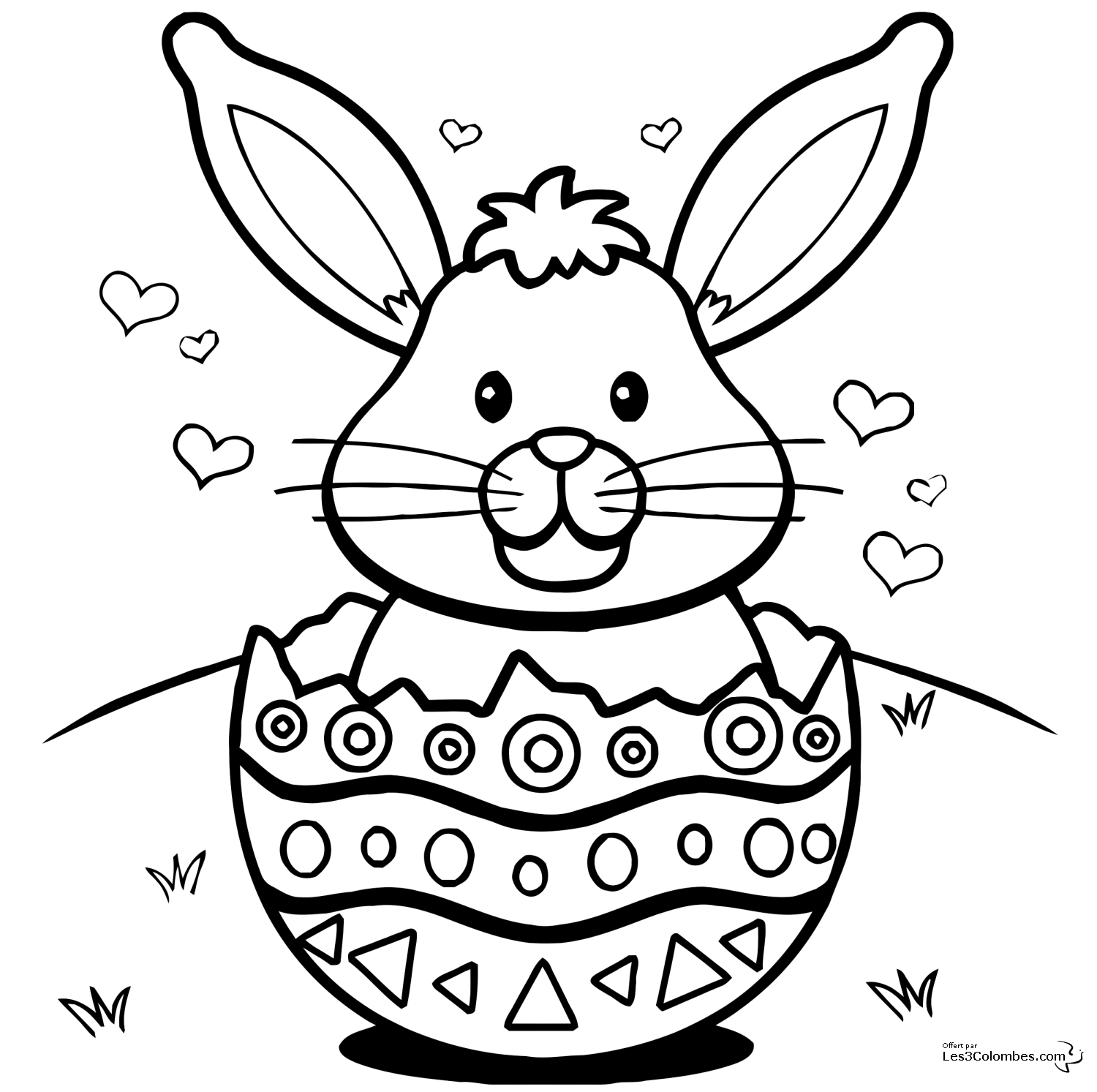 Bunny coloring pages, Easter bunny pictures, Easter colouring