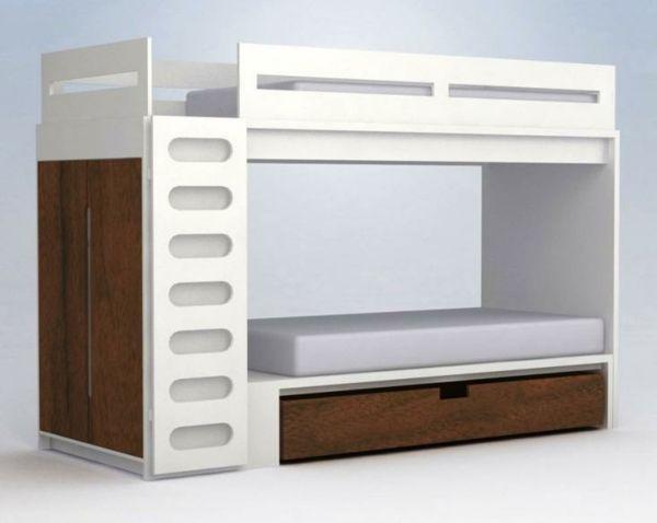 Etagenbett Kinder : Etagenbett mit leiter erle echtholz hochbett für kinder