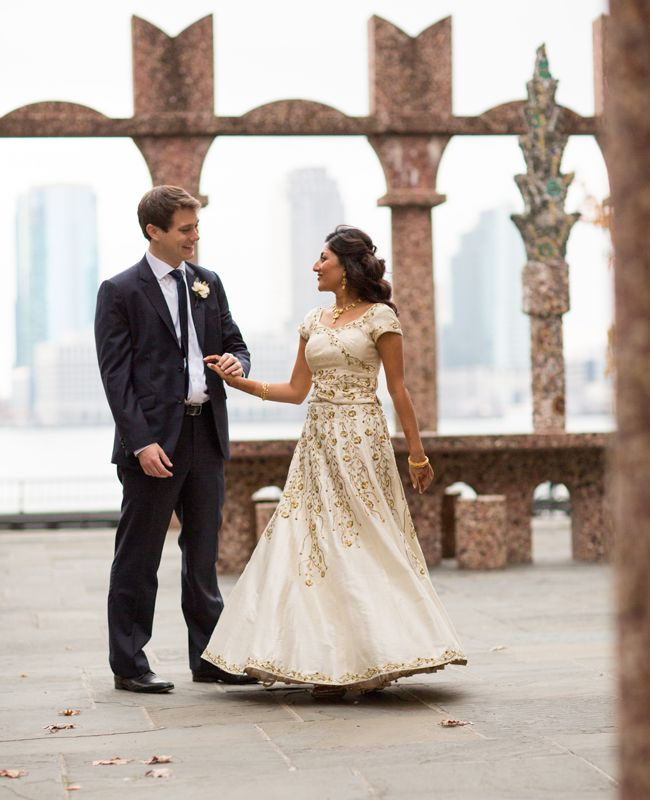 The 16 Prettiest Real Weddings Of The Year Interfaith Wedding Indian Bridal Hairstyles Wedding