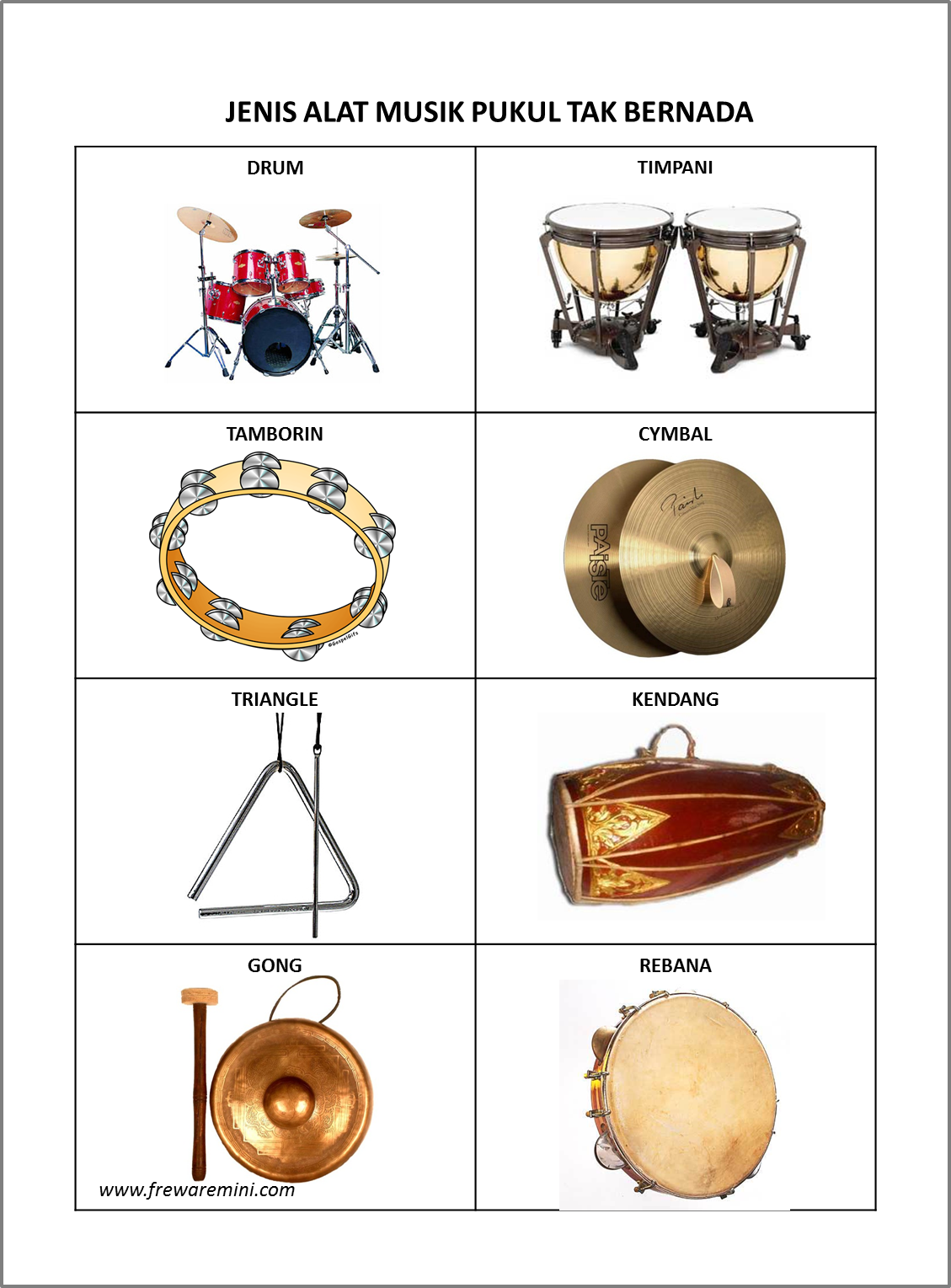 95+ Gambar Alat Musik Tamborin